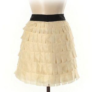 NWOT J. Crew Collection Beige Short Skirt Size 6